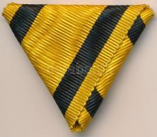 ~1890. Katonai Legénységi Szolgálati Jel eredeti mellszalagja jó állapotban Hungary ~1890. Military Service Medal original ribbon in good condition NMK 150.