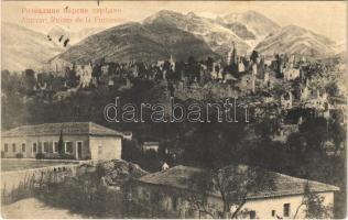1913 Bar, Antivari; ruins of the fortress (castle)
