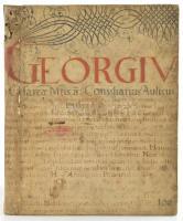 Matthiae Fabri: E societate iesv. Conciones funebres et nuptiales. (Köln) Coloniae Agrippina, 1676, Johann Widenfeldts. 63+1 p, 93+1p. Sérült karton gerinccel, korabeli kartonált papírkötés, régi kódexlapba kötve.