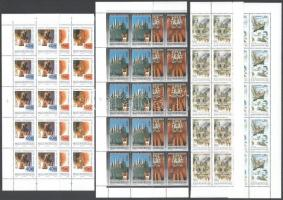 1992-1997 5 klf Europa CEPT sor ívsarki tizestömbökben (39.000) / 5 different set in corner blocks of 10