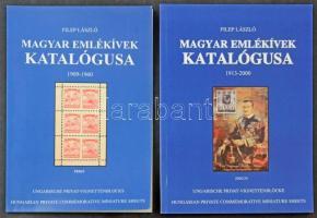 Filep László: 2 db Magyar Emlékívek katalógusa 1909-1960 + 1913-2000