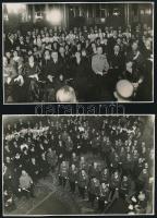 1934 Gellért szálló, főcsoport bál 3 db fotó. 18x14 cm
