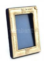 Ezüst(Ag) rátétes fényképtartó képkeret, jelzett, belső méret: 6×4 cm, külső méret: 8,5×6 cm
