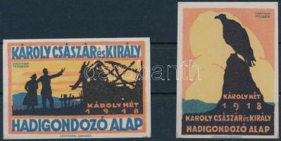 1918 Károly hét Hadigondozó alap levélzáró pár