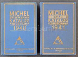 Michel Európa katalógus 2 kiadás 1940 + 1941