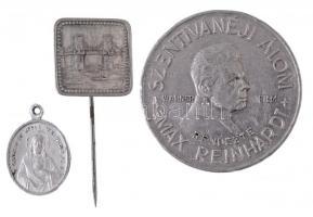 ~1935. Szentivánéji Álom Al zseton (36mm) + ~1930-1940. Lánchíd Al jelvény (18x18mm) + Al kegyérem (21mm) T:2,2-