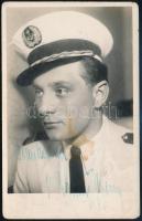 Gozmány György (1920-1973) színművész aláírt fotólapja