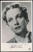 Bulla Elma (1913-1980) színésznő aláírása az őt ábrázoló képen