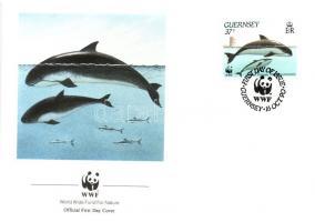 1990 WWF Tengeri állatok sor + 4 FDC Mi 497-500