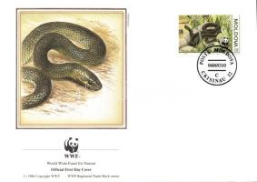 1993 WWF Kígyók négyestömb + 4 FDC Mi 50-53