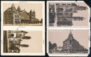 cca 1890 Budapest a Dohány utcai zsinagógát ábrázoló litho képek egy leporellóból 12x10 cm
