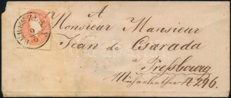 ~1861 5kr levélen PERESZLÉNY (Gudlin 300 pont)
