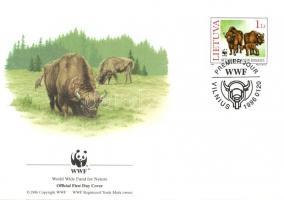 WWF Buffalo set + 4 FDC, WWF Bölény sor + 4 FDC, WWF Wisent Satz + 4 FDC