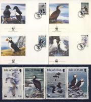 1989 WWF Tengeri madarak négyescsík + 4 FDC Mi 408-411