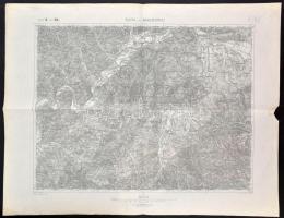 cca 1894 Zsolna és Vágbeszterce (Silein und Waagbistritz/Žilina a Považská Bystrica) térképe, 1:75:000, K. u. K. Militärgeographisches Institut, 38x49 cm