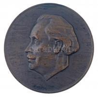Bulgária 1949 Georgi Dimitrov 1882-1949 Br emlékérem (60mm) T:2 ph. Bulgaria 1949. Georgi Dimitrov 1882-1949 Br medallion (60mm) C:XF edge error