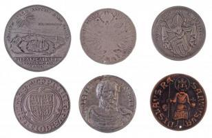 6db klf fém és Br múzeumi másolat emlékérem T:2-3