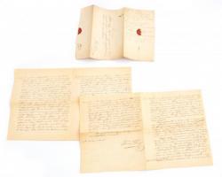 1857 Keblovszky Lajos megyetörvényszéki tanácsosnak címzett kézzel írott levél Szeberényi Lajos tanártól, az oktatással kapcsolatos tanácsairól