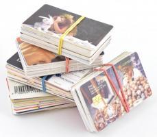 100 db használt, főleg román telefonkártya