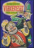 Köpeczi Bócz István (1919-1978): Shakespeare Vízkereszt Jókai Színház kisplakát, 23×16,5 cm