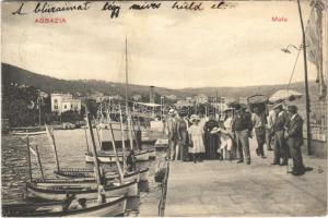 1911 Abbazia, Opatija; Molo / boats, steamship (EK)