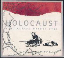 cca 1990-2000 Holocaust, a XX. század valódi arca, eredeti kézzel készített kiadványterv, jó állapotban, 20×21,5 cm