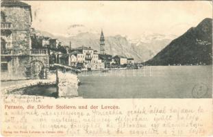 1904 Perast, Perasto; Die Dörfer Stolievo, und der Lovcen. Verlag von Franz Laforest (EK)