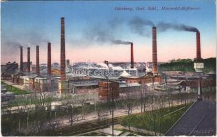 1915 Bohumín, Oderberg; Mineralöl-Raffinerie / mineral oil refinery (EK)