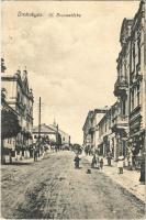 1916 Drohobych, Drohobycz; Ul. Grunwaldzka / street view, shops. Leon Rosenschein (EK)