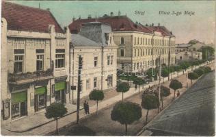 1916 Stryi, Stryj; Ulica 3-go Maja / street view, shops. Adeli Katz (Rb)