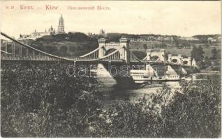Kiev, Kiew, Kyiv; Nikolaevsky Chain Bridge (fl)