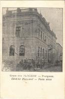 1915 Zoloshiv, Zloczów; Postgasse / Posta utca / post office, street view (EK)