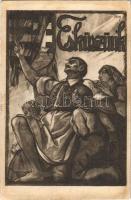 1921 Esküszünk! Kiadja a Szózat Magyarország Területi Épségének Védelmi Ligája napilapja / Hungarian irredenta propaganda s: Tary Lajos (fl)