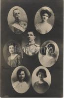 Olasz királyi család, gyerekek nevei feliratozva / Italian royal family