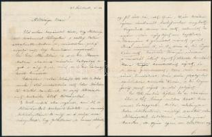 cca 1917 3 db Edvi Illés Aladárnak írt levél, egyik Edvi Illés István.