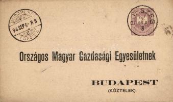 1894 Hivatalos díjjegyes levelezőlap BOKSZEG