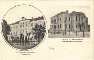 1915 Brody, K.K. Rudolfs-Gymnasium, Handels- u. Gewerbekammer / Gimnazyum, Izba handlowa i przemyslowa / high school, chamber of trade and commerce (EB)