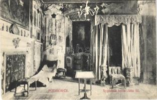 Pidhirsti, Podhorce; Spialnia króla Jana III / castle, interior (EK)