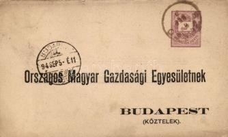 1894 Hivatalos díjjegyes levelezőlap SZEGED