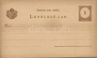 1874 + 1882 Használatlan díjjegyes levelezőlapok