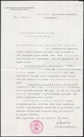 1942 Nagykanizsa, katonai ügyben kiadott érvényes házasságról szóló igazolás