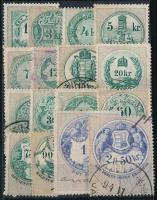 1891 16 db klf magyar okmánybélyeg