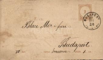 1886 Díjjegyes adóintés tőlap BUDAPEST FŐPOSTA