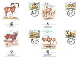 1998 Sivatagi kecske FDC Mi 1819-1822