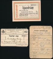 1942-1943 Zsidó kereskedő 3 db igazolványa + 4 db fotója