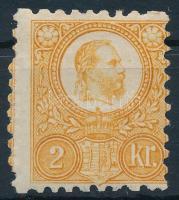 1871 Réznyomat 2kr képbe fogazott bélyeg (22.000++) / Mi 8 with shifted perforation