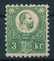 1871 Réznyomat 3kr (55.000) / Mi 9 (gumiráncok / gum creases)