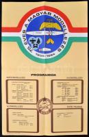 1984 75 éves a magyar modellezés 1909-1984. MHSZ plakát, hajtott, 65x42,5 cm