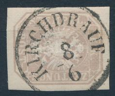 Newspaper stamp greyish brown