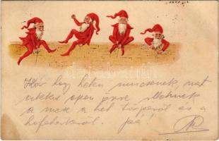 1900 Törpék / Dwarfes. litho